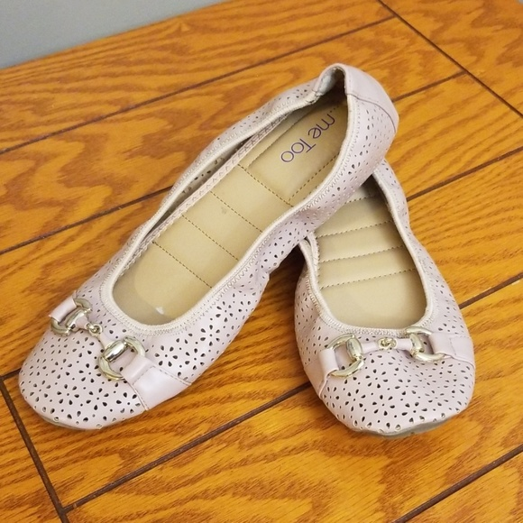 me too Shoes - Me too blush nude perforated ballet flats like new